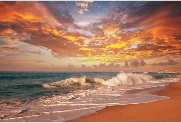 papermoon Fototapete Sea Sunset 7 Bahnen 350 x 260 cm Vlies