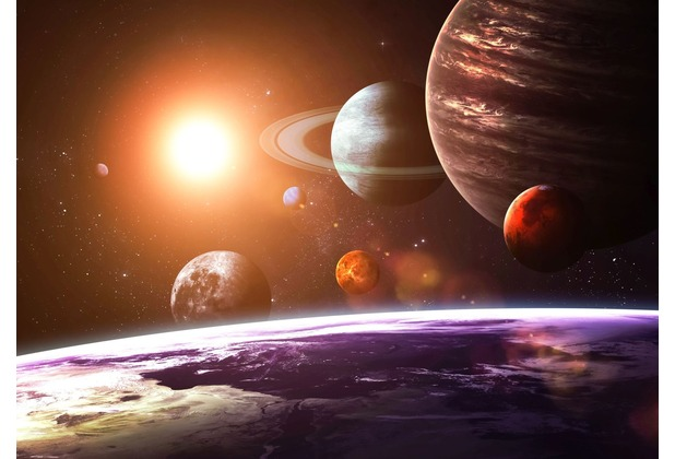 papermoon Fototapete Solar System 7 Bahnen 350 x 260 cm Vlies
