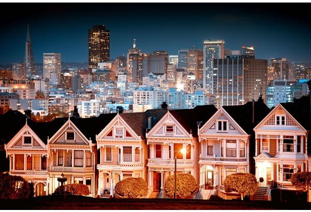 papermoon Fototapete Urban Landscape in San Francisco 7 Bahn 350 x 260 cm Vlies