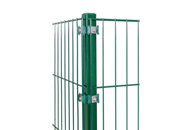 Peddy Shield Eckpfosten für Doppelstab- und Einstabmatten 1700x40x40mm in RAL 6005 - grün