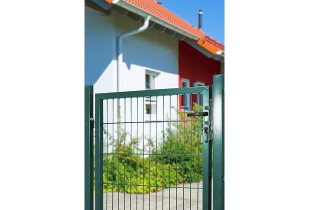 Peddy Shield Gartentor für Stabmatte grün (RAL 6005) einflügelig - 125 cm