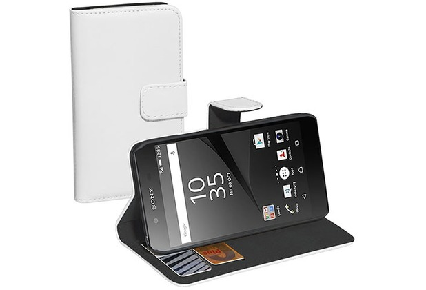 Pedea BookCover Classic für Sony Xperia Z5 Compact, weiß