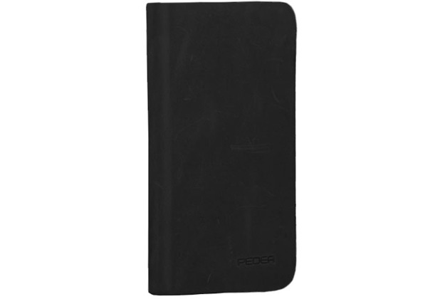 Pedea Echtleder Book Cover für iPhone 7, schwarz