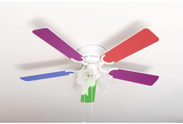 Pepeo Extra flacher Deckenventilator Kisa Multicolor weiß mit Beleuchtung