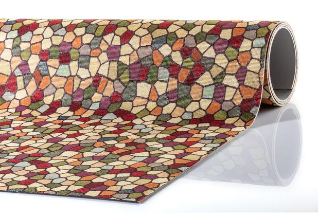 Peyer Syntex Teppich Mira Jacquard Mosaik Multicolor 60 cm x 110 cm