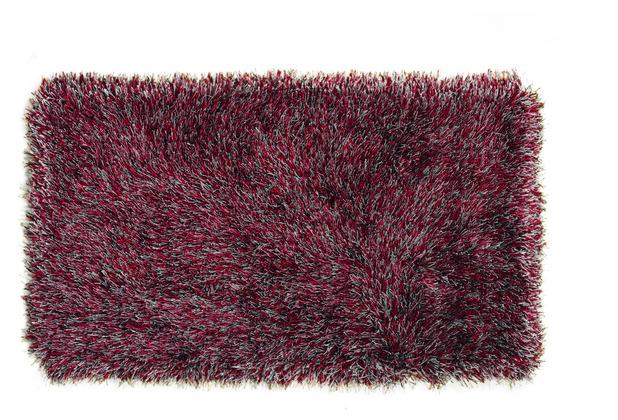 Peyer Syntex Teppich Sofia Polyshaggy grau-rot 60 cm x 110 cm