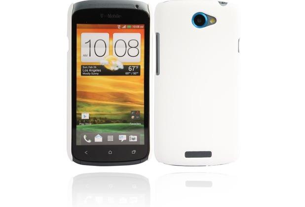 Twins Shield Matte für HTC One S, weiß