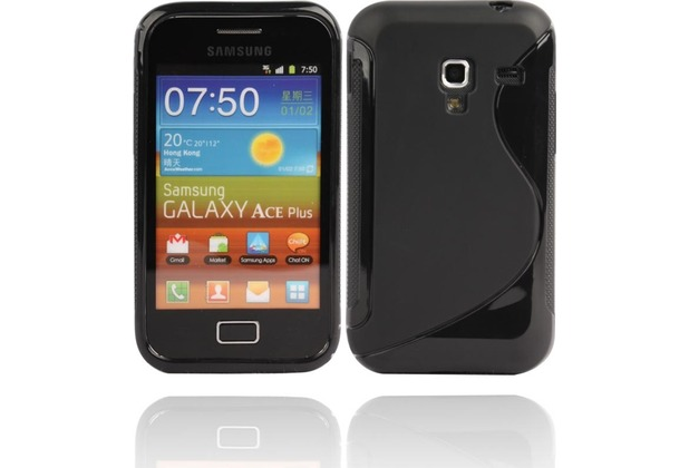 Twins Fancy Bright für Samsung S7500 Galaxy Ace Plus, schwarz