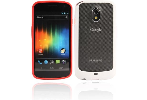 Twins 2Color Bumper für Samsung i9250 Galaxy Nexus, rot-weiß