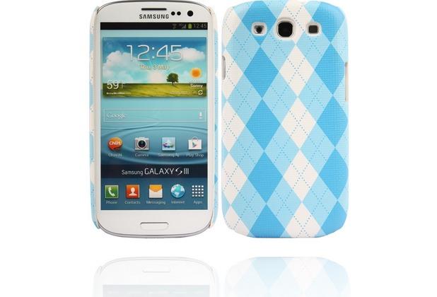 Twins Plaid für Samsung Galaxy S3, blau-weiß
