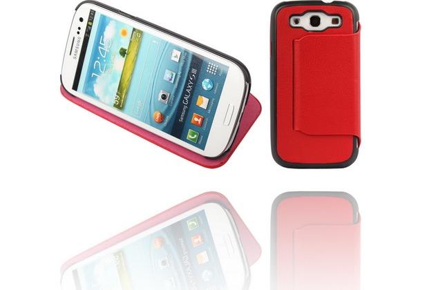 Twins Hugging BookFlip für Samsung Galaxy S3, rot