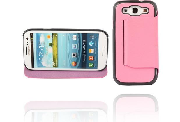 Twins Hugging BookFlip für Samsung Galaxy S3, pink