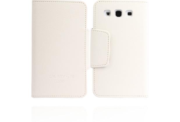 Twins BookFlip Logo für Samsung Galaxy S3, weiß