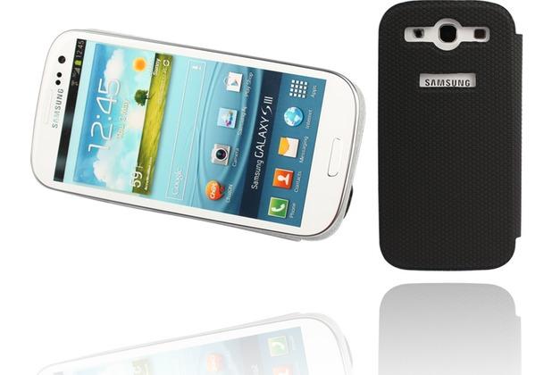 Twins Slim BookFlip für Samsung Galaxy S3, schwarz