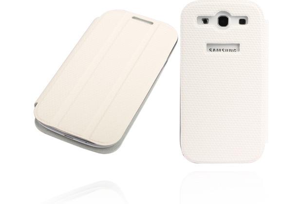 Twins Slim BookFlip für Samsung Galaxy S3, weiß