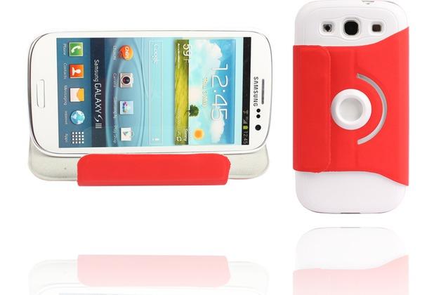 Twins Folio Stand 360 für Samsung Galaxy S3, rot