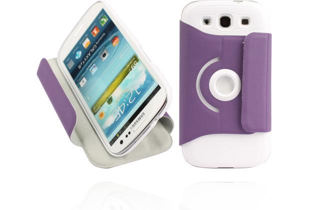 Twins Folio Stand 360 für Samsung Galaxy S3, violett