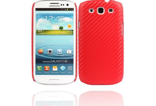 Twins Carbon für Samsung Galaxy S3, rot