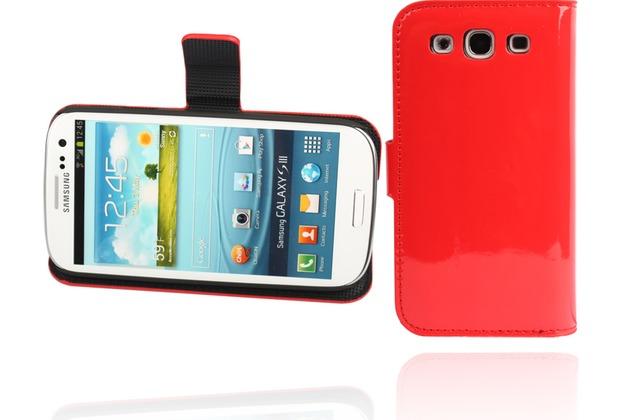 Twins Glossy BookFlip für Samsung Galaxy S3, rot