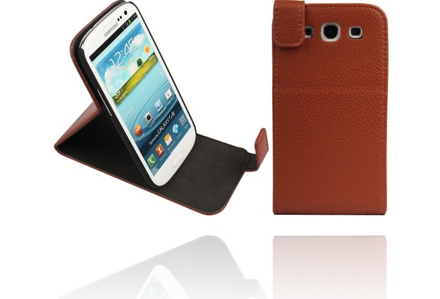 Twins Flip-Flap Leather für Samsung Galaxy S3, braun
