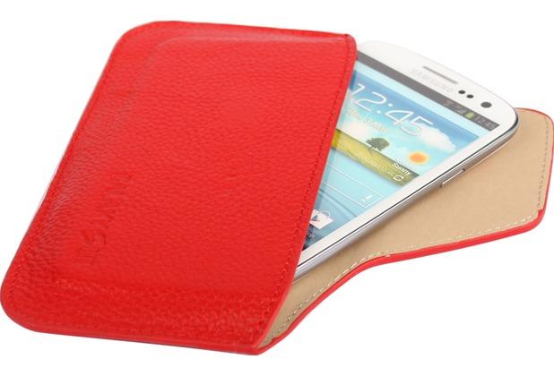 Twins Slim Purse für Samsung Galaxy S3, rot