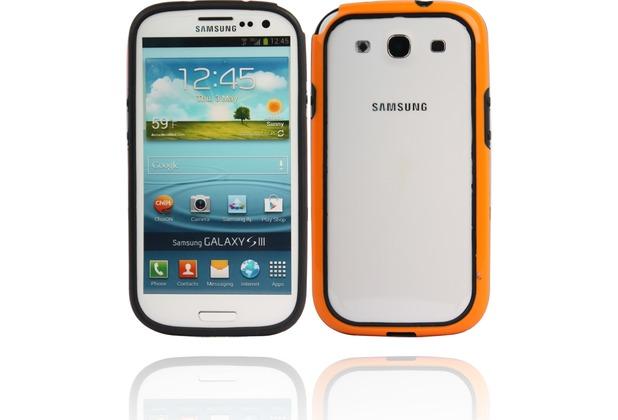 Twins 2Color Bumper für Samsung Galaxy S3, schwarz-orange