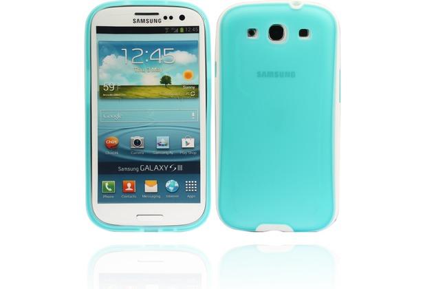 Twins White Edge für Samsung Galaxy S3, blau