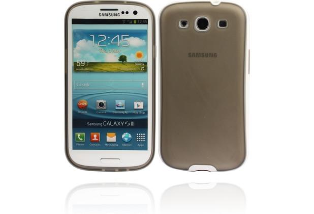 Twins White Edge für Samsung Galaxy S3, grau