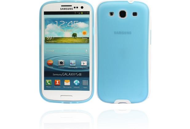 Twins White Edge für Samsung Galaxy S3, hellblau