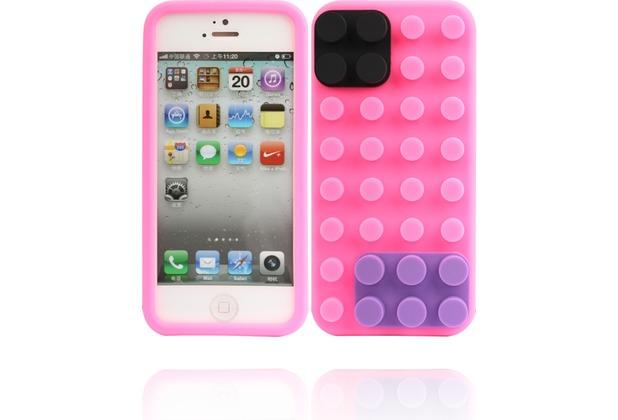 Twins Blocks für iPhone 5/5S/SE, pink