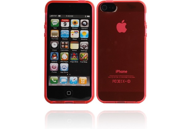 Twins Bright für iPhone 5/5S/SE, rot-transparent