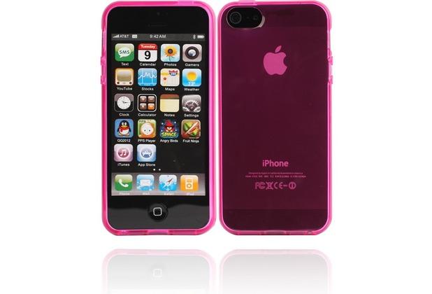 Twins Bright für iPhone 5/5S/SE, pink-transparent