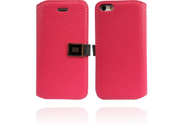 Twins BookFlip Excellence für iPhone 5/5S/SE, pink