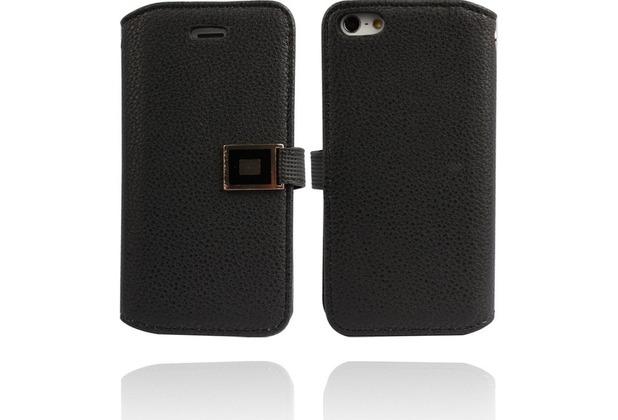 Twins BookFlip Excellence für iPhone 5/5S/SE, schwarz