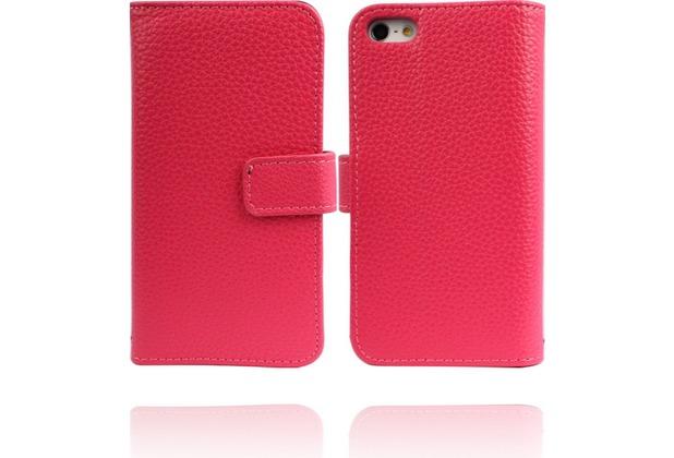 Twins Premium BookFlip Leather für iPhone 5/5S/SE, pink