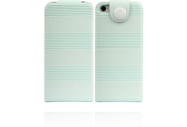 Twins Striped Flip-Flap für iPhone 5/5S/SE, grün