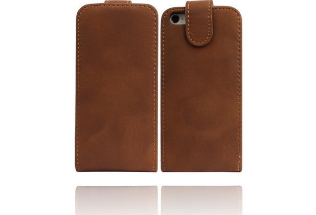 Twins Smooth Flip für iPhone 5/5S/SE, braun