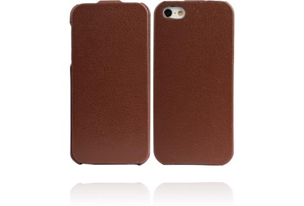 Twins Flip für iPhone 5/5S/SE, braun