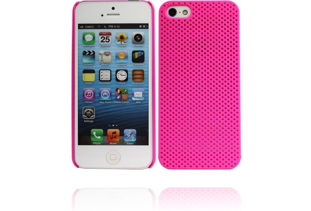 Twins Perforated für iPhone 5/5S/SE, pink