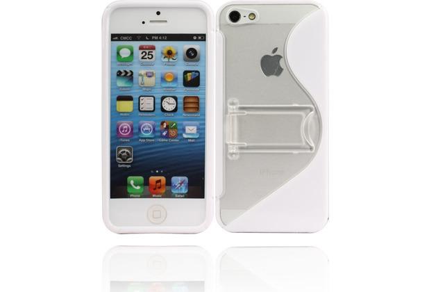 Twins Convenience für iPhone 5/5S/SE, weiß-transparent