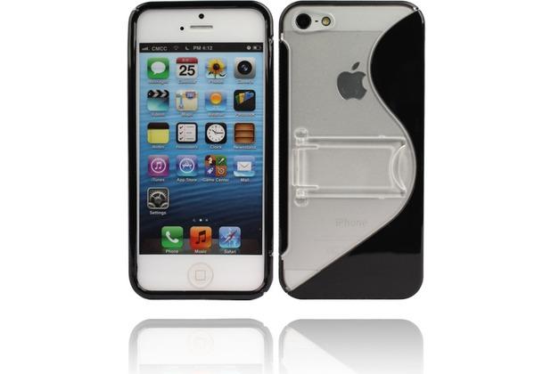 Twins Convenience für iPhone 5/5S/SE, schwarz-transparent