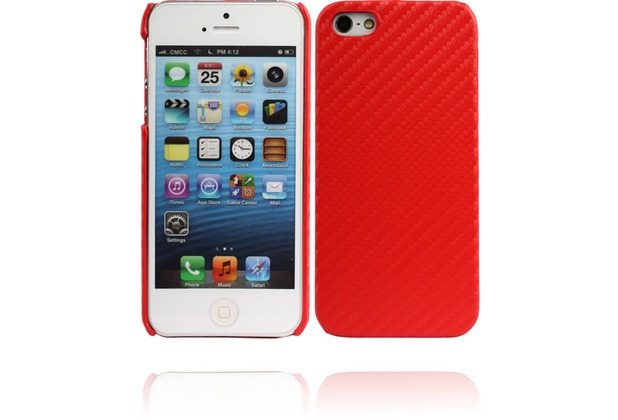 Twins Carbon für iPhone 5/5S/SE, rot