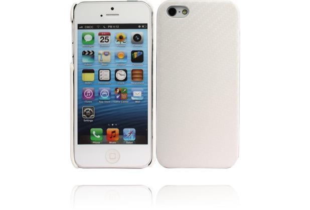 Twins Carbon für iPhone 5/5S/SE, weiß