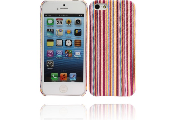 Twins Fine Stripes für iPhone 5/5S/SE, purpurlila