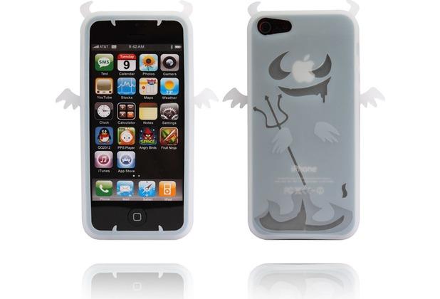 Twins Devil 2 für iPhone 5/5S/SE, weiß-transparent