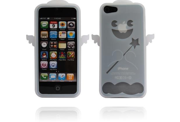 Twins Angel für iPhone 5/5S/SE, weiß-transparent