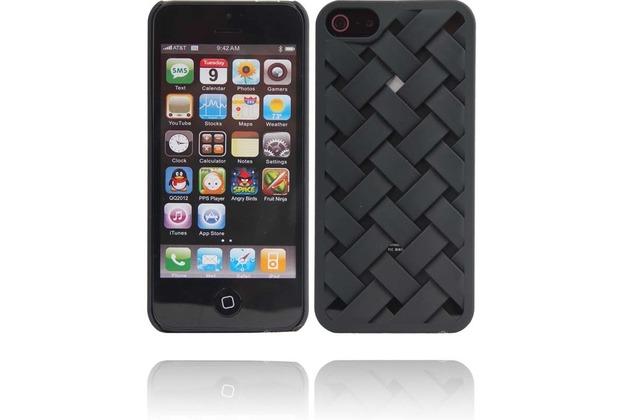Twins Weave für iPhone 5/5S/SE, schwarz