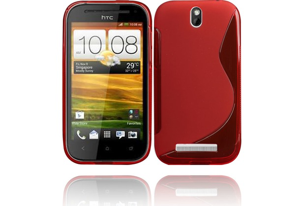 Twins Fancy Bright für HTC One SV, rot