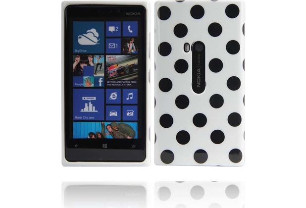 Twins Bright Dots für Nokia Lumia 920, weiß-schwarz