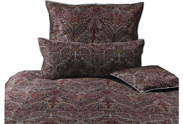 pfeiler mako satin bettw sche paisley dunkelrot super weich. Black Bedroom Furniture Sets. Home Design Ideas